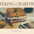 Postcards Asking for Charitable Cause Suggestioins